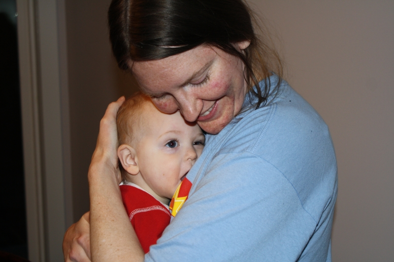Tirzah Mae and Mama post-cleaning