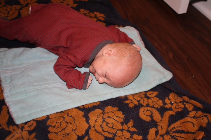 "Louis ""enjoying"" tummy time"