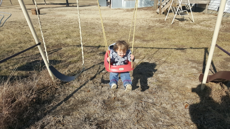 Swinging, a favorite pastime