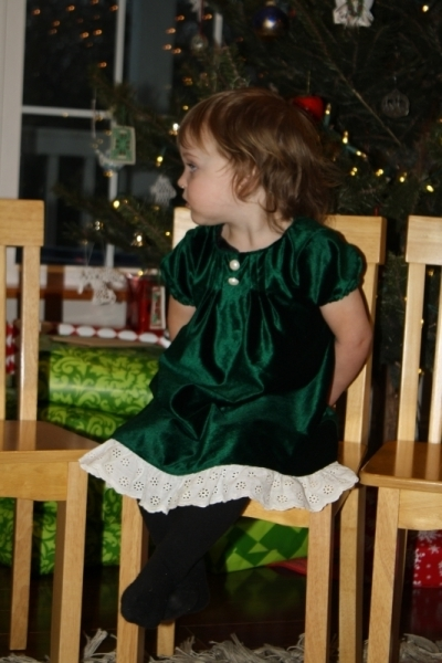 Tirzah Mae in her Christmas dress