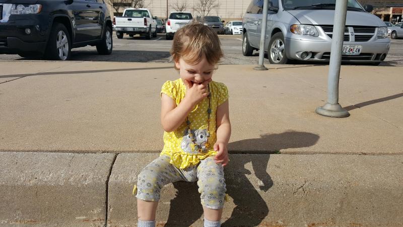 Tirzah Mae on a Curb