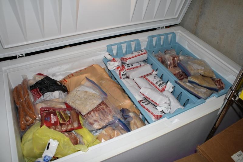 My chest freezer, stuffed full