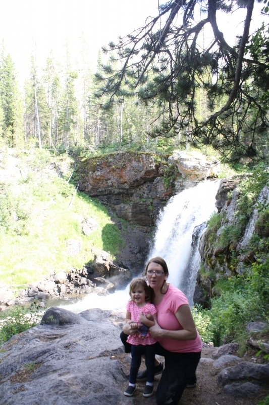 Tirzah Mae and I with Moose Falls again