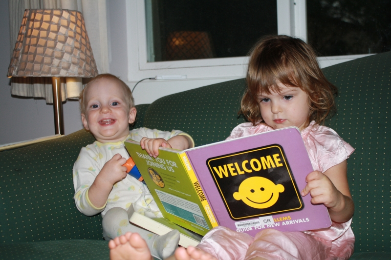 "Tirzah Mae and Louis read ""Welcome"" together"