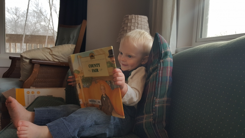 """Louis reading """"County Fair"""""""