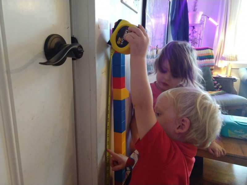 Measuring height with megablocks