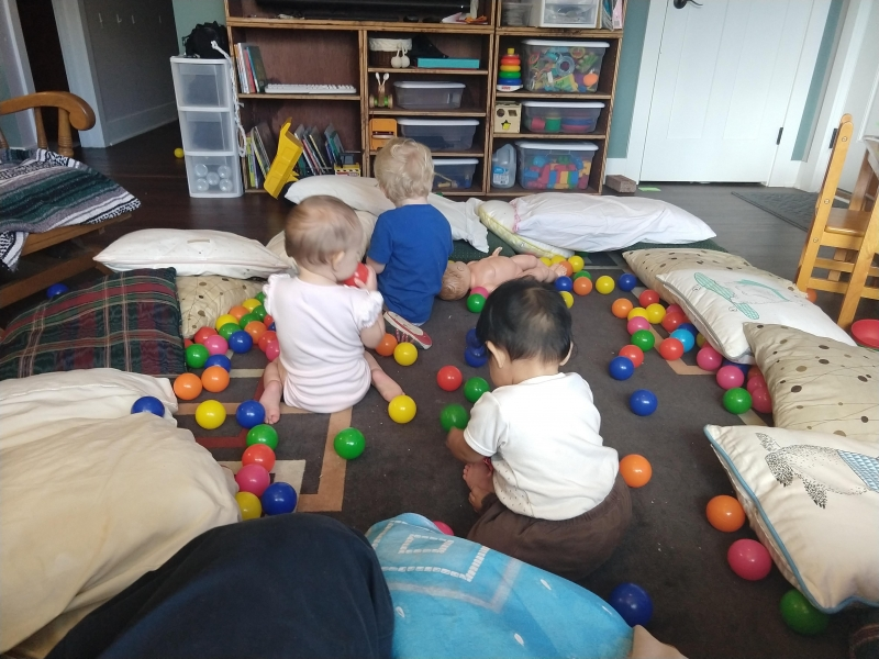 We made a ball pit!