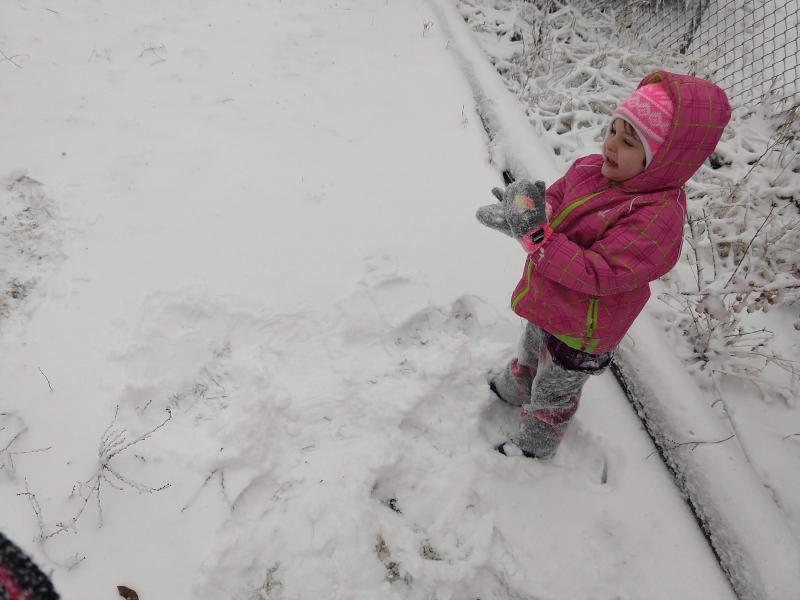 Immediately post snow angel