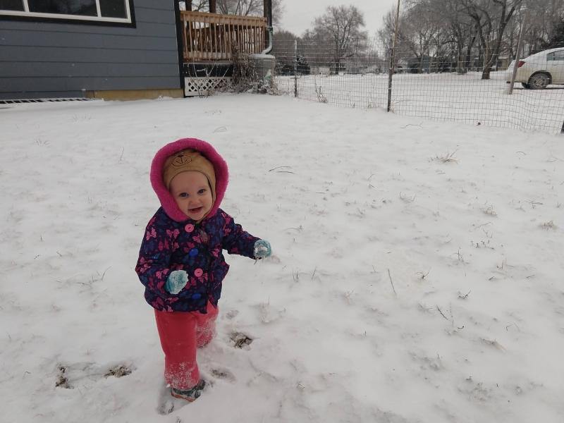 Beth-Ellen loved the snow!
