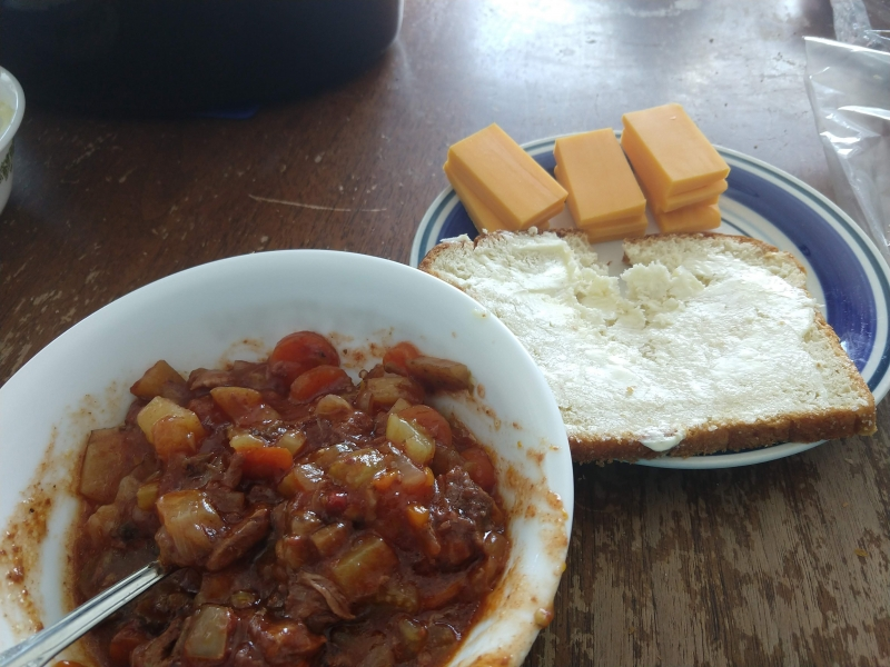 Oven Beef Stew with Bread and Cheese