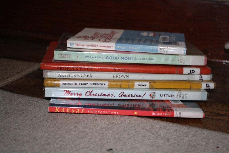 First stack of library returns