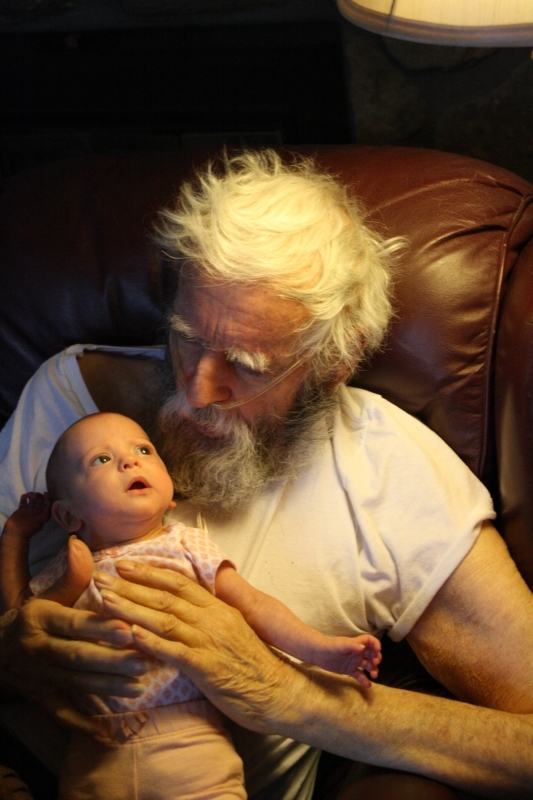Tirzah Mae and her great-grandpa Garcia