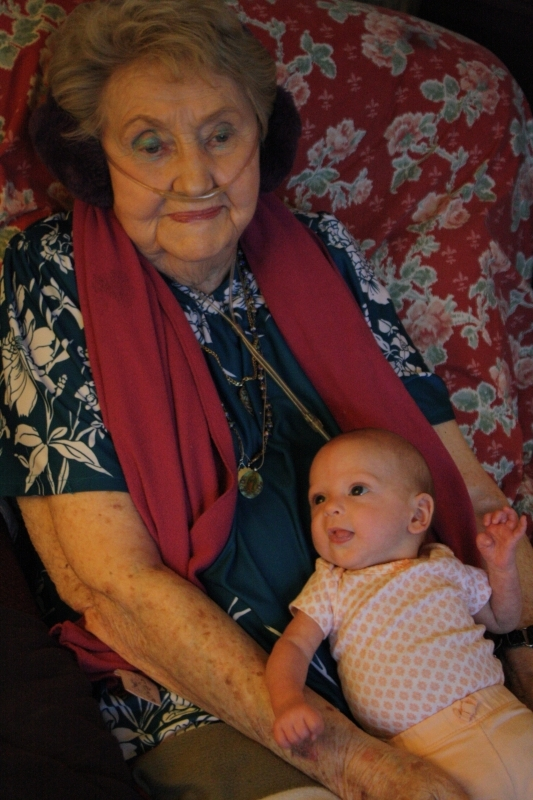 Tirzah Mae and Great-Grandma Garcia