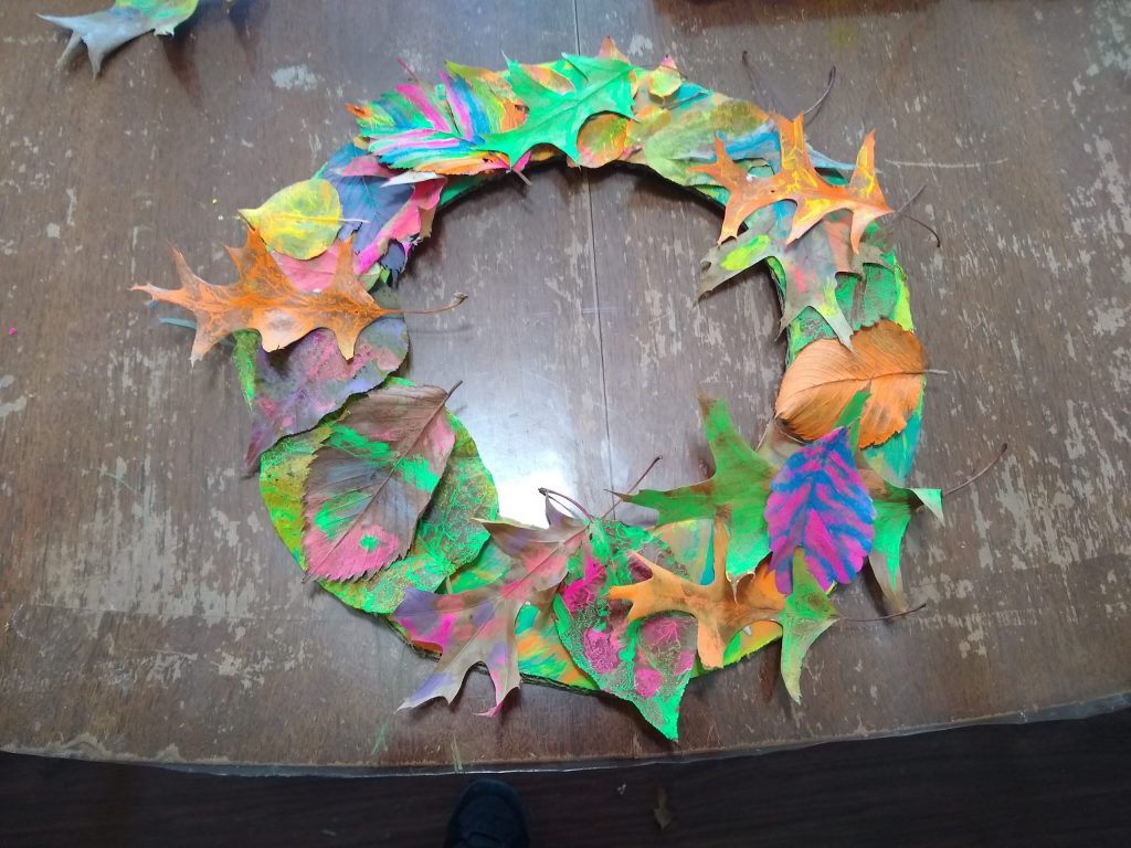 My leaf wreath