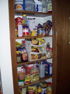 Pantry full of food