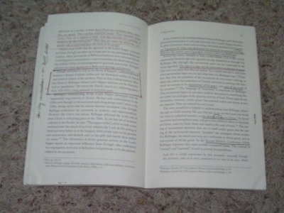 Book with notes
