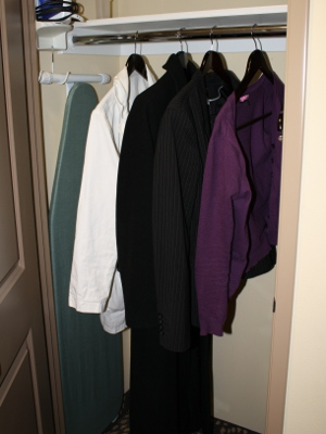?Clothes in hotel closet
