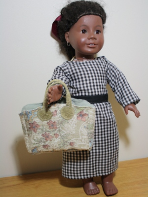 Addie doll with carpetbag